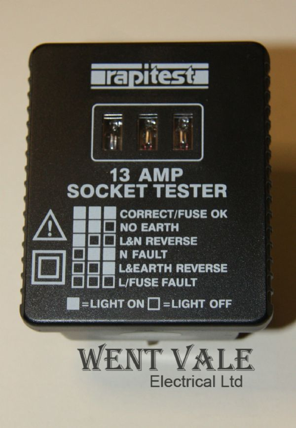 Rapitest AS 109 - I3a Socket Tester New in Blister Pack